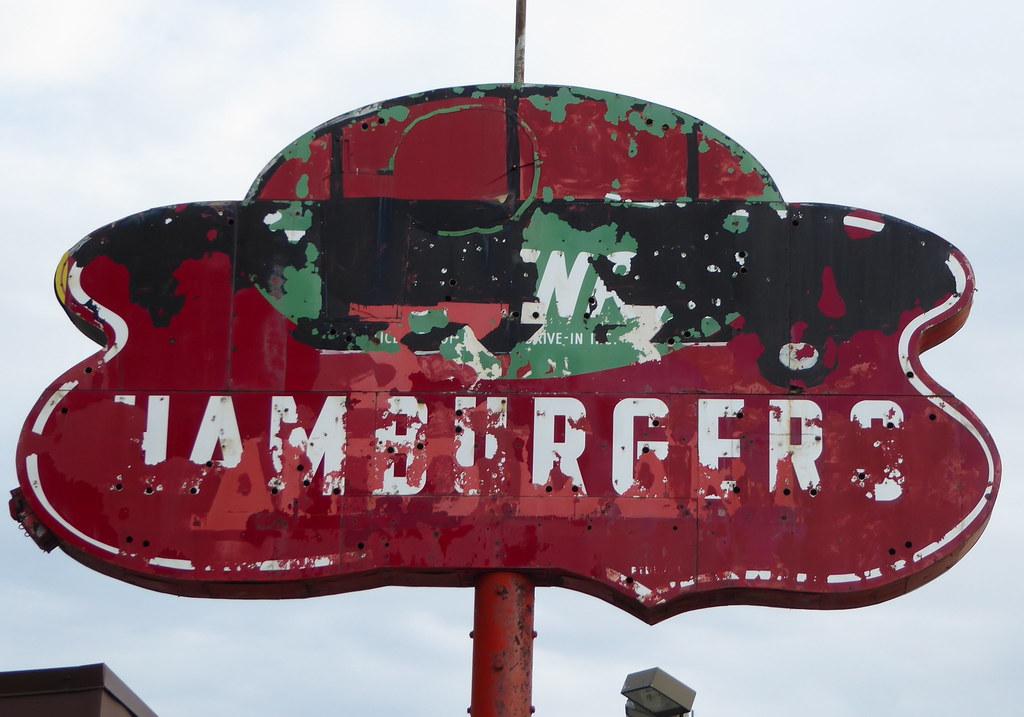 Vintage Hamburger Sign Western Avenue Chicago The Have