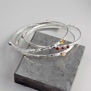 Hammered Bracelet Set | by Sarah Hood Jewelry