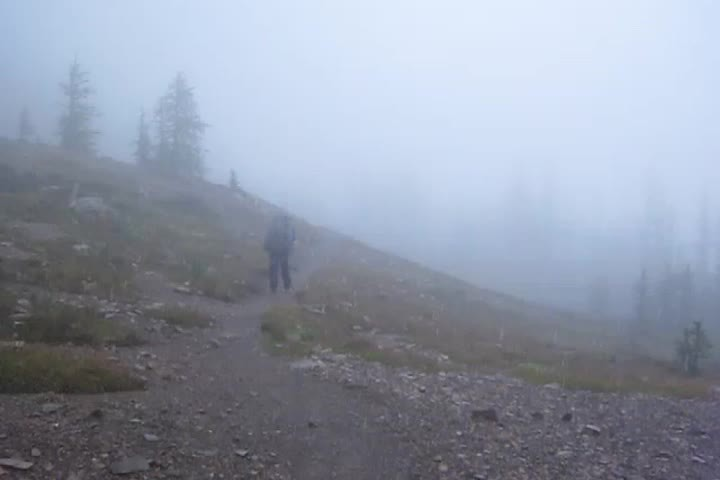 1776 PCT - Panorama video of Grasshopper Pass and campsite CS2623 in the pouring rain