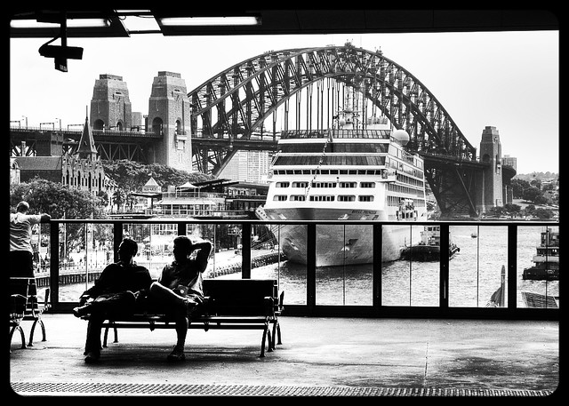 A station with a view - Circular Quay & the Sydney Harbour Bridge