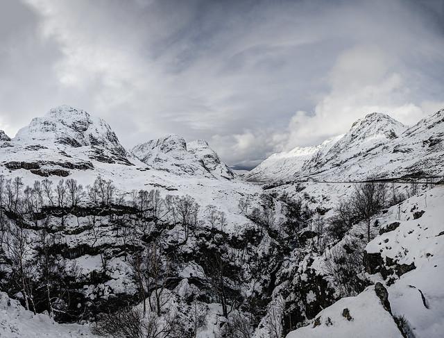 Bidean Nam Bian Mountain Range Glencoe Scotland 01/2015