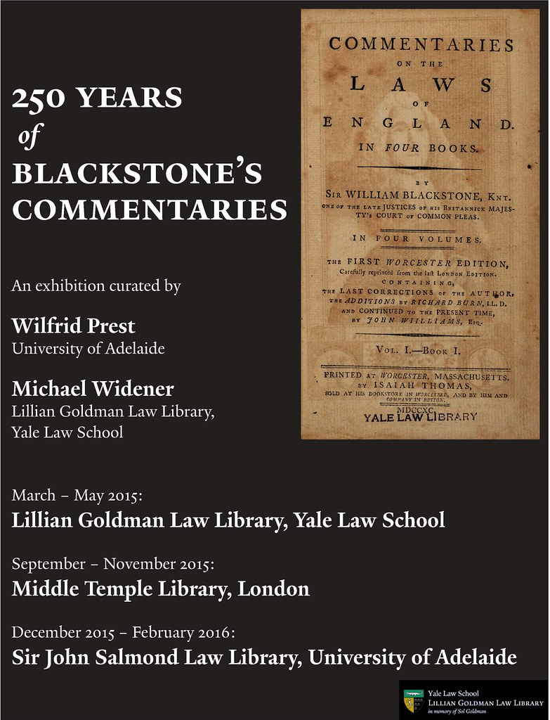 March 2015: 250 Years of Blackstone's Commentaries | Flickr