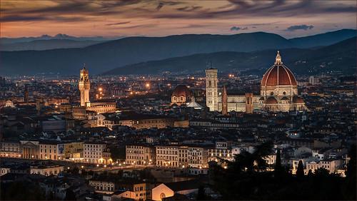 sunset italy florence nikon italia tramonto tuscany firenze d800 marcofrancini arunte