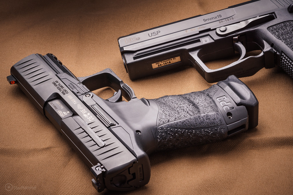 Walther PPQ M1 & H&K USP-9 F | A brand new Walther PPQ M1 wi