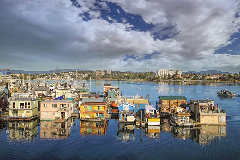 Fisherman's Wharf, Victoria, Vancouver Island, British Columbia, Canada.