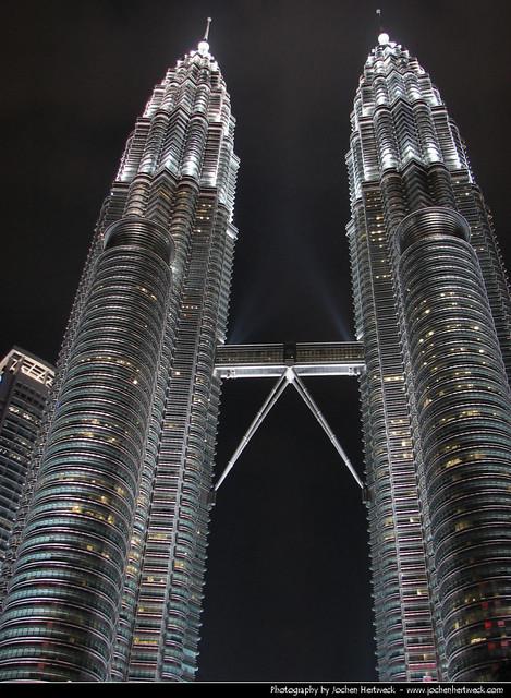 Petronas Towers @ Night, Kuala Lumpur, Malaysia