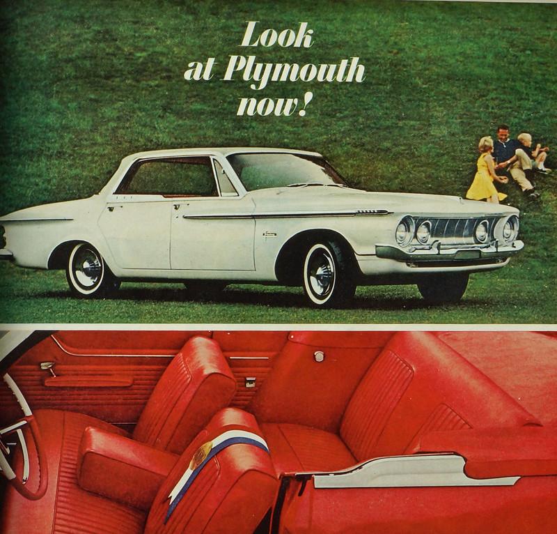 CM036 1961 Plymouth Car Ad Framed DSC04434 crop