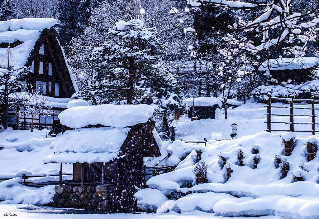 Real life snow globe, Hida Folk Village, Takayama, Japan #… | Flickr