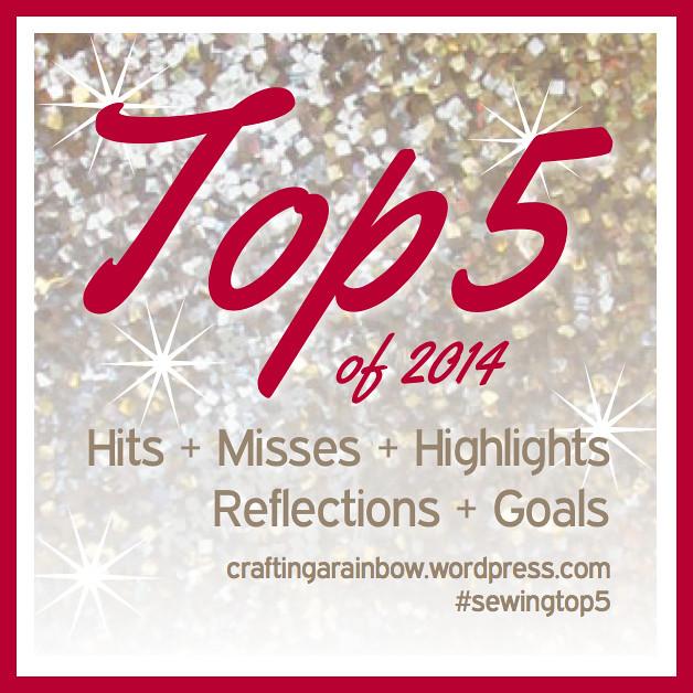 Top 5 2014 #sewingtop5