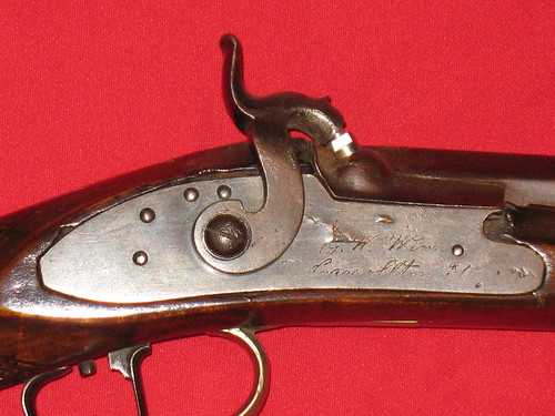 G. W. Winn Rifle - Made In Carrollton, Illinois - Signature On Lock