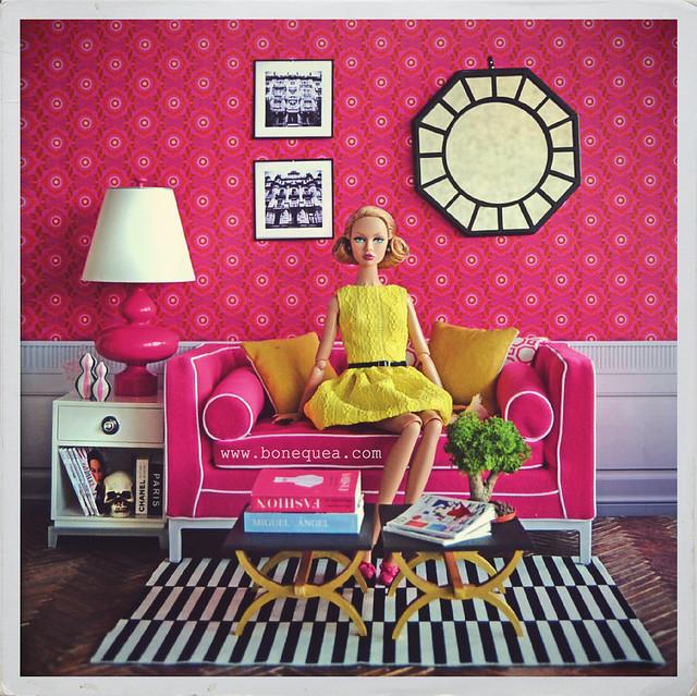 Ultra-pink diroama. She's arrived Poppy Parker