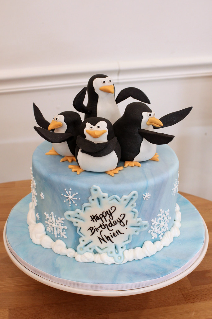 Terrific Penguin Birthday Custom Madagascar Penguins Snowflake Ic Flickr Funny Birthday Cards Online Aeocydamsfinfo