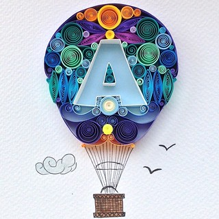 Quilled Hot Air Balloon | by all things paper