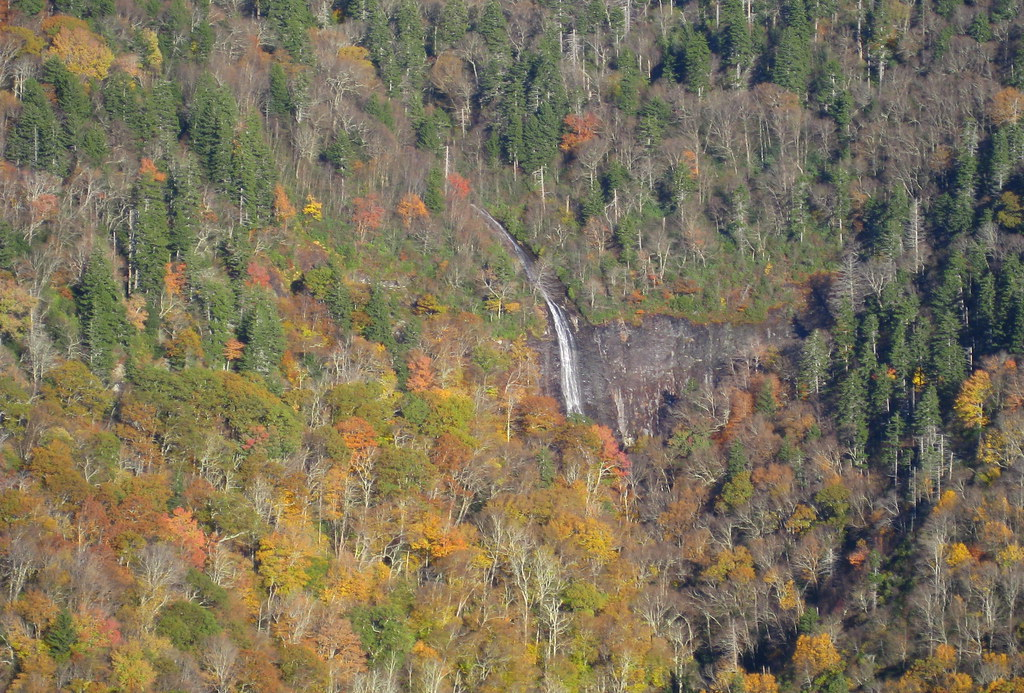Blue Ridge Parkway - Glassmine Falls Overlook - Close View of Waterfall