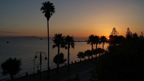kos holiday ferie greece grækenland sunrise sea harbour boat turkey coast beach