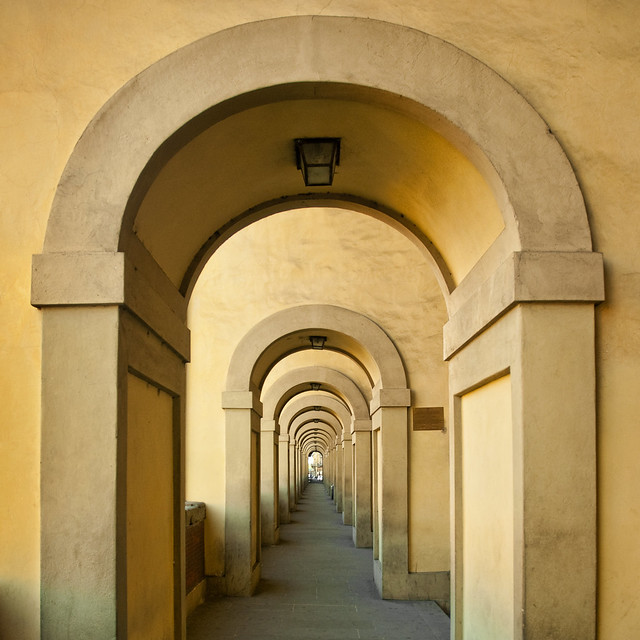 Italy - Florence - Vasari Corridor arcade_sq_DSC8787