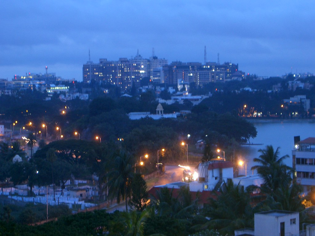 View of Bangalore fron Millenia Tower over Ulsoor lake | Flickr