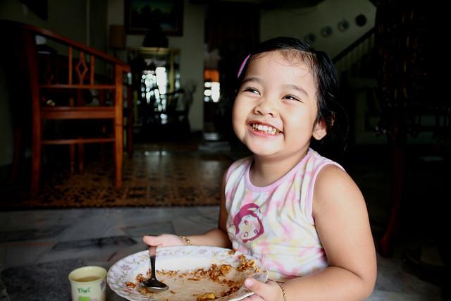Sofiya eating