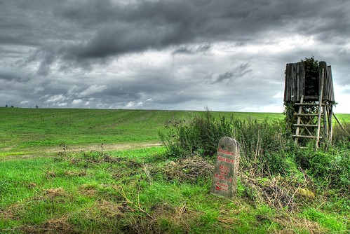 HDR: Boundary Stone from 1852 by Dirk Paessler