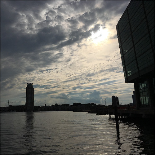 baltimore maryland fellspoint harbors clouds sky squared sunset iphone