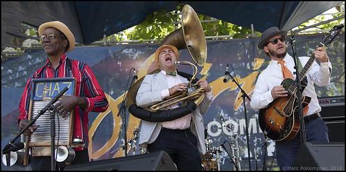 Tin Men at French Quarter Fest Day 4 - 4.15.18. Photo by Marc PoKempner.