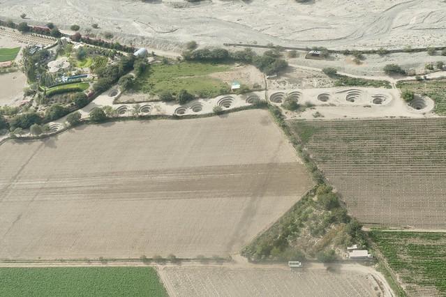 Puquios Aqueducts water system Nazca Peru