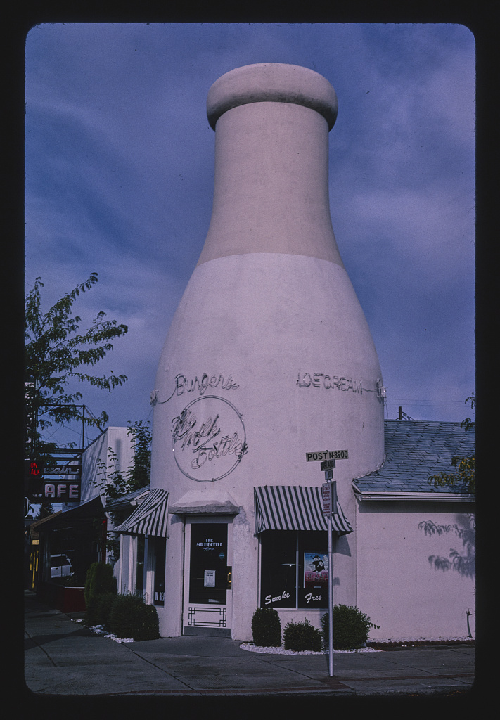 Benewah Dairy milk bottle, Post & Garland, Spokane, Washington (LOC)