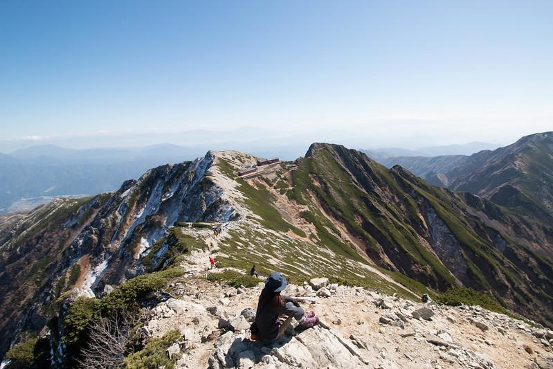 唐松岳の頂上