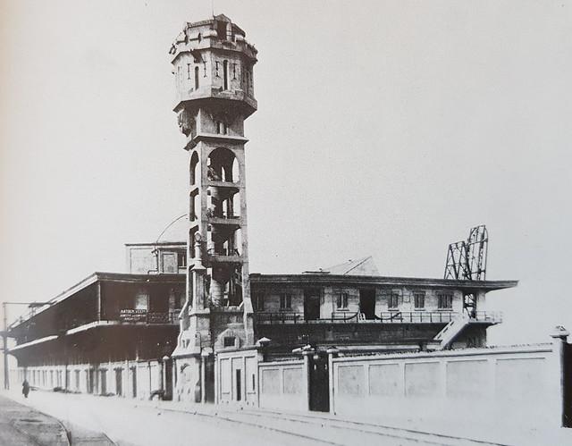 Katoenveem met watertoren
