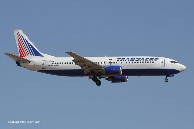 EI-DDY - 1991 build Boeing B737-4Y0, on approach to Runway 24L at Palma