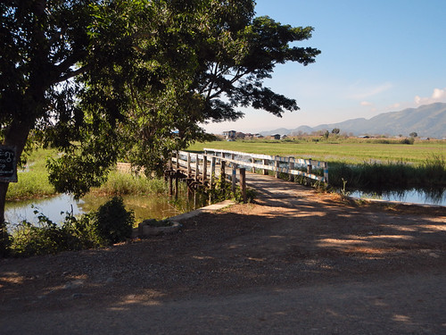 The Road on Our Inle Lake Bike Trip