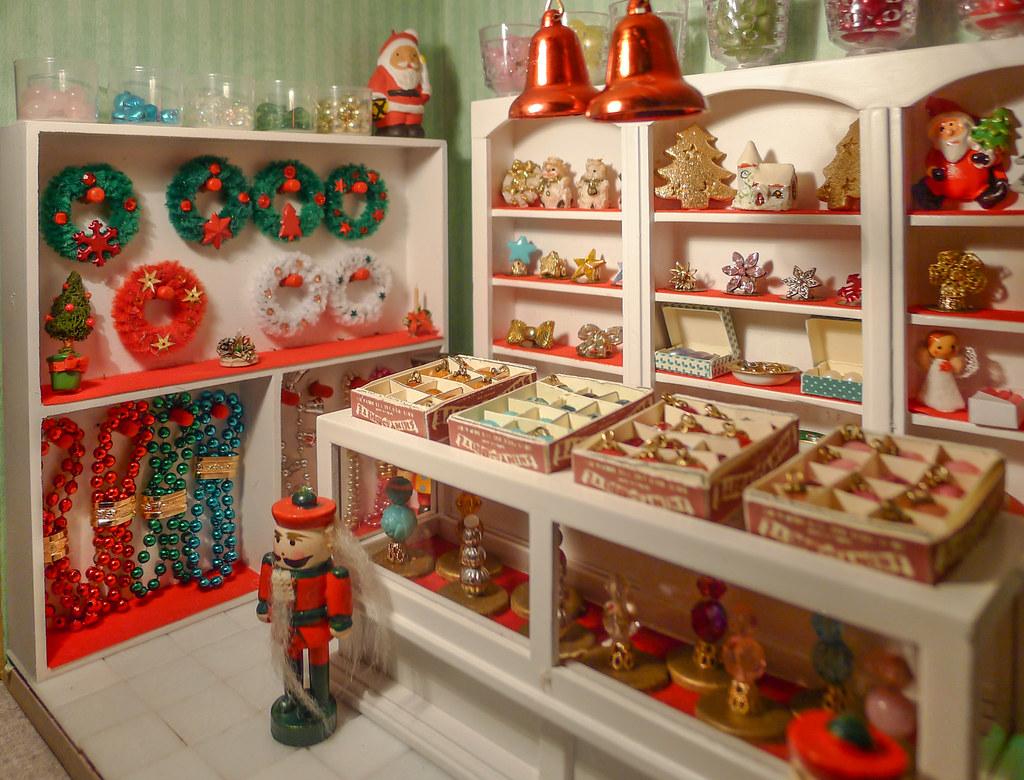 Christmas Dollhouse Miniatures.Part Of Christmas Shop Dollhouse Miniatures 1 12 Gedeelte