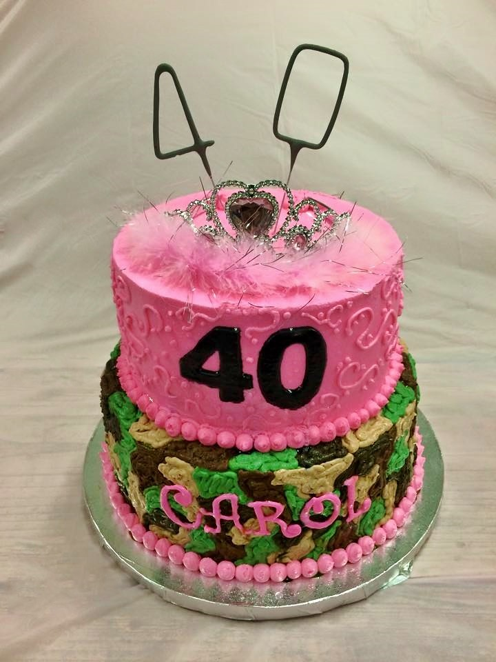 Peachy Pink Camouflage Birthday Cake Daniyellee Flickr Funny Birthday Cards Online Overcheapnameinfo