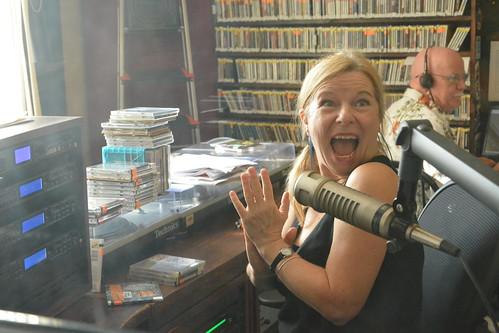 Olivia Greene gets another pledge! Photo by Kichea S Burt.