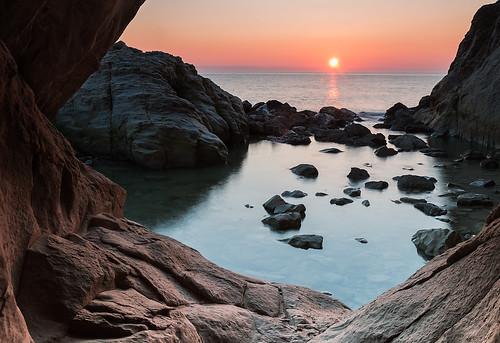 sea italy seascape colors sunrise amazing rocks italia mare marche sirolo
