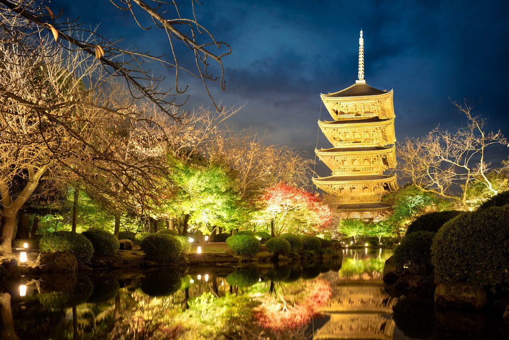 Image result for toji temple at night