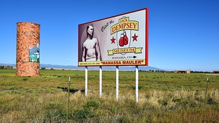 Exit for Manassa, Colorado | by Larry Lamsa