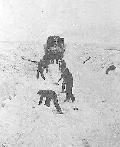 C.P.R. Gang Shoveling Snow off the Tracks