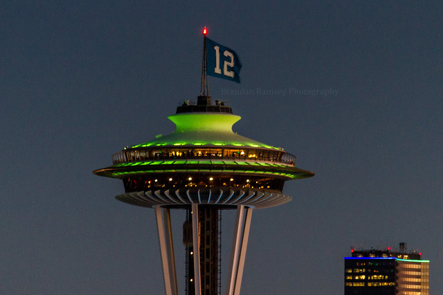 SEAHAWKS Space Needle and the Columbia Tower.