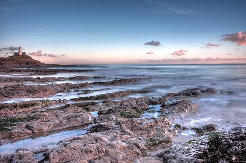 longexposure lighthouse seascape southwales bay nikon rocks mumbles braceletbay d90 mumbleshead 1855mmvr