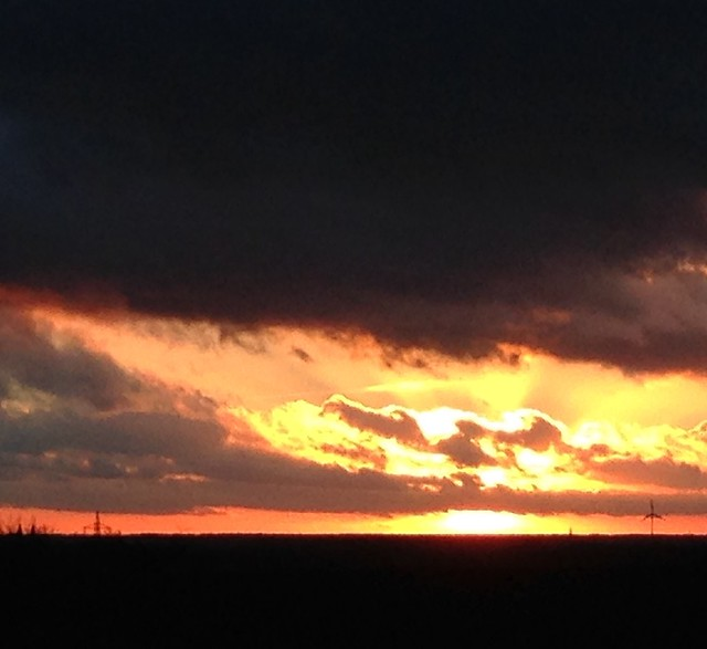 Sonnenuntergang über dem Maastal