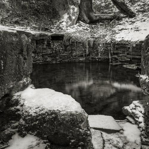 winter white fish snow black ice monochrome canon landscape rebel pond long exposure path forbidden t2i