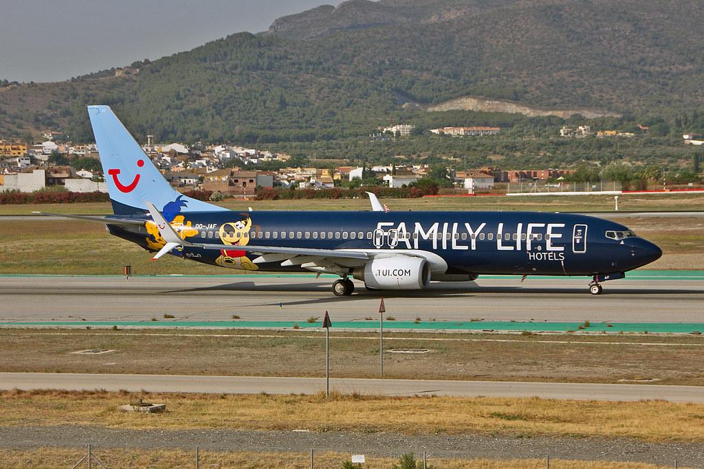 OO-JAF Boeing 737-8K5SC TUIFly Belgium AGP 25-06-16