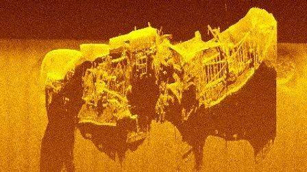 Restos buques hundidos en Artico