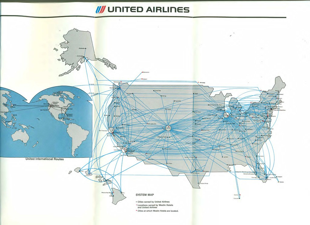 United route map, August 1985 | United Airlines system route ... on united international route map, virgin australia destinations map, united airline airport destinations, destination on a map, continental airlines map, spirit airlines destinations map, northwest destinations map, united flight route map, american airlines destination map, qantas destinations map, copa airlines destinations map, allegiant air destinations map, air new zealand destinations map, hawaiian airlines destinations map, us airways destination map, spirit air seat map, united express airline routes, korean air destinations map, jetblue destinations map, delta destinations map,