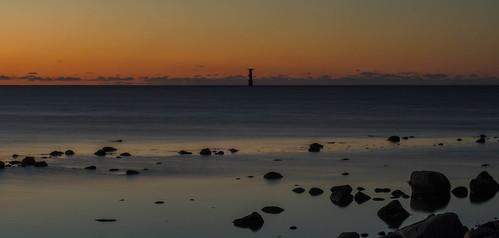 christmas lights lighthouses sweden scania viken öresund