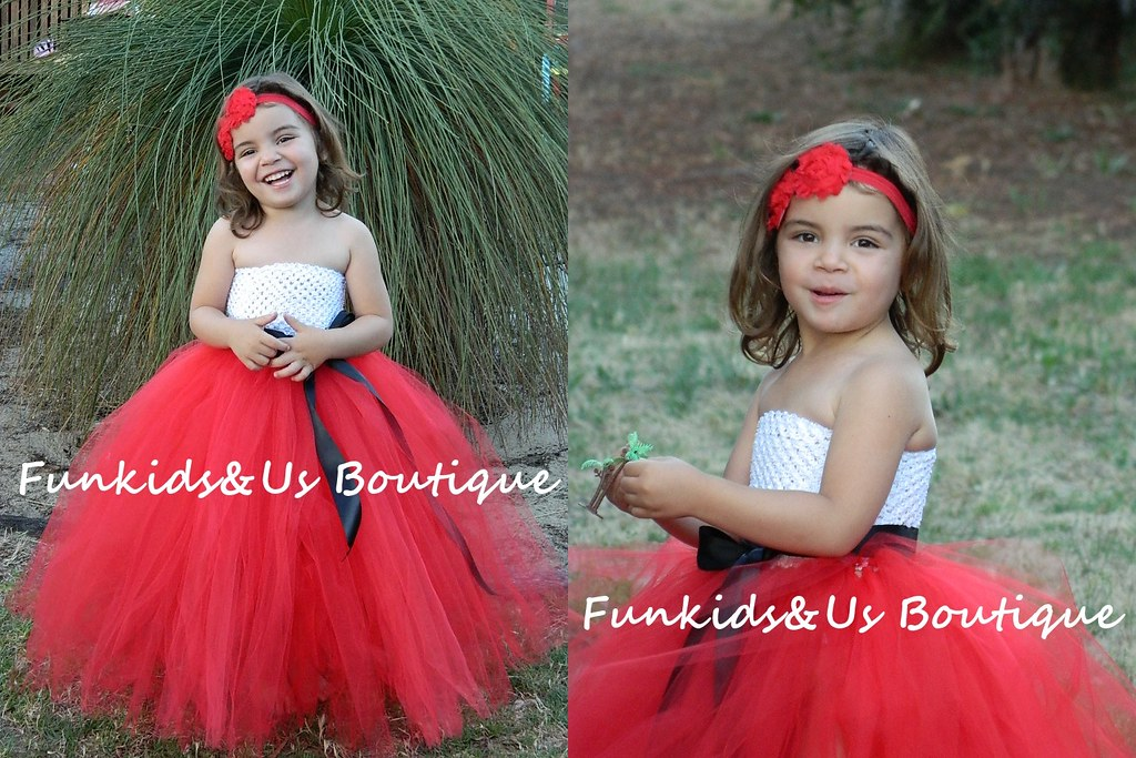 8923c15cb ... Red and White Christmas tutu dress, Flower Girl Tutu Dress- | by  Funkids&Us Boutique