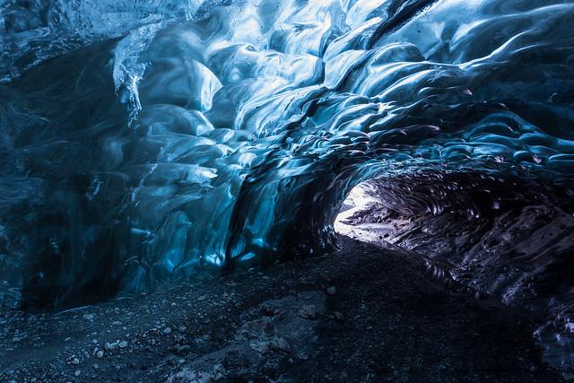 Ice caving under the Vatnajökull Glacier, Iceland