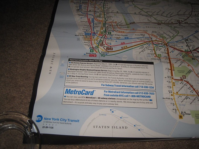 May 1994 Subway Map