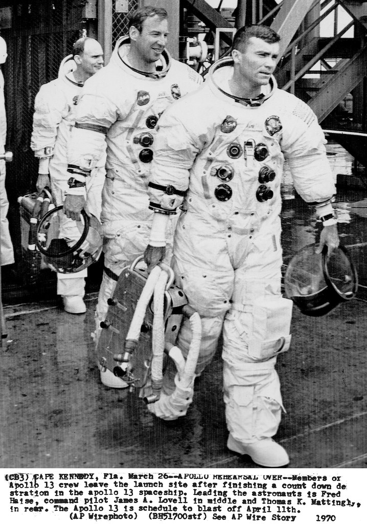 A13_0025 The Apollo 13 Prime Crew Leaving Pad 39A After CD